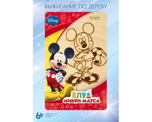 """Выжигание Disney в рамке 10*15 """"Микки-футболист"""""""