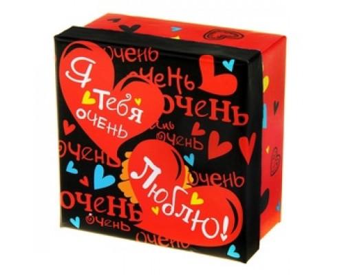 "Коробка подарочная ""Сердца"", 11,5 х11,5 х6 см"
