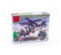 """Игрушка - конструктор (BRICK) """"Вертолёт и мотоцикл"""" (119 деталей)"""